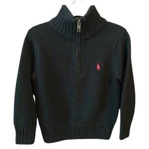 Polo by Ralph Lauren Black Sweater Size 4/4T